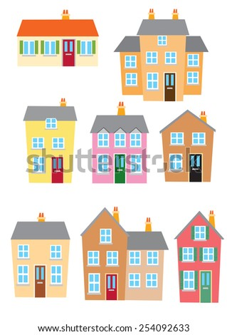 Different styles of houses