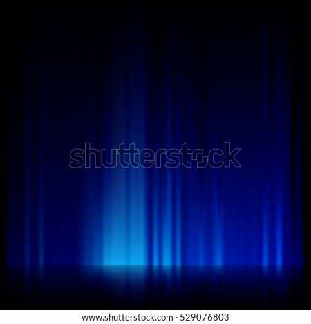 Digitally generated image of blue light and stripes moving fast over black background. EPS 10 vector file included