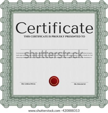 Vector Certificate Template Vector 245262547 Shutterstock – Money Certificate Template