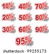 Discount label set vector for design - stock photo