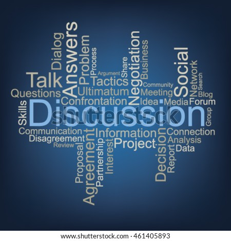 Discussion word cloud, vector