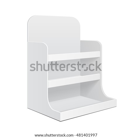 Display Cardboard Counter Shelf Holder Box POS POI Blank Empty Mockup Mock Up