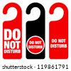 Do Not Disturb Sign - Red Hotel Door Warning Messages isolated on white background - stock vector