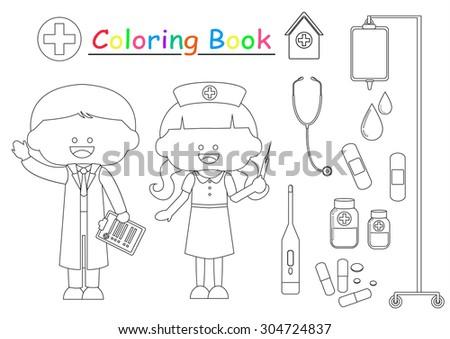 Girl Halloween Costume Coloring Book Stock Vector 303257582 ...