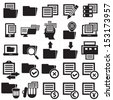 Documents icons,vector - stock vector
