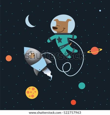Vector Illustration Planet Mercury Retro Flat Stock Vector ...