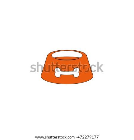 dog bowl icon stock vector 523827472 shutterstock