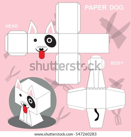 Dog Paper Craft Template Stock Vector 547260271 - Shutterstock