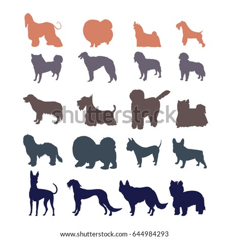 dog wallpaper 1 stock vector 362094002 - shutterstock