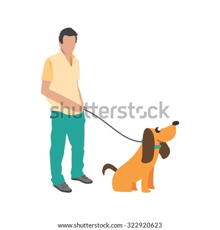 Dog, walking, park icon vector image. Can also be used for activities. Suitable for use on web apps, mobile apps and print media.