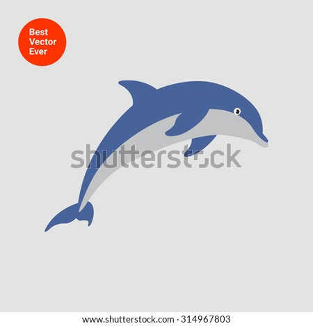 Vector Image Dolphin D...