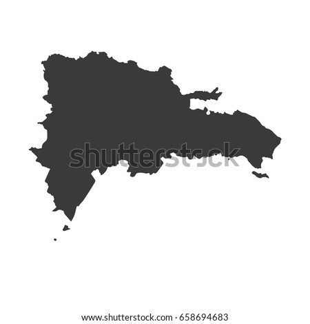 Dominican Republic Vector Map Isolated On Stock Vector - Dominican republic map vector