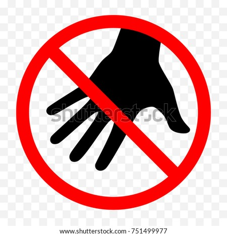 no picking flowers sign do not stock vector 737065843