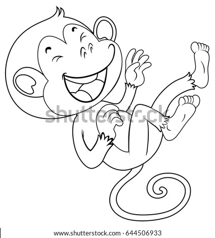 scary monkey coloring pages | Cartoon Vector Outline Illustration Octopus Stock Vector ...