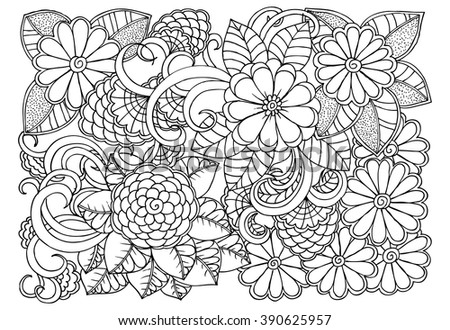 Coloring Book Flower Patterns Coloring Pages