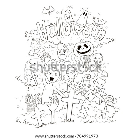 cartoon character halloween coloring pages - photo#31