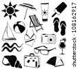 doodle summer collection - stock vector