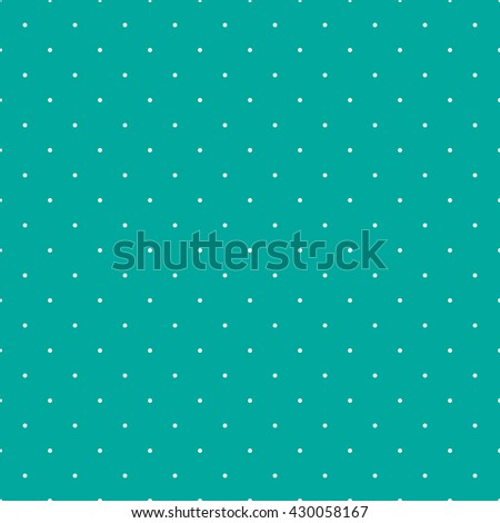 Dot pattern seamless on green color background.