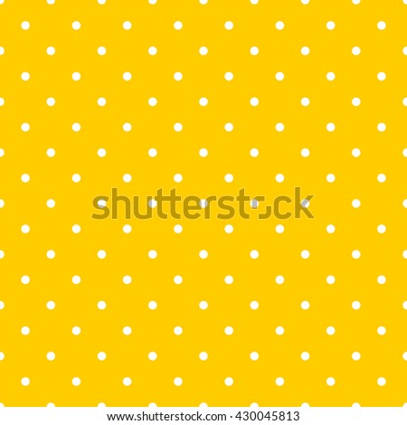 Dot pattern seamless on yellow color background.