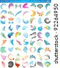 dotted design elements ultimate pack 60+ - stock vector