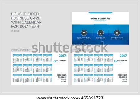 Business card calendar 2017 template free vector download 30864 doublesided business card template calendar stock vector business card calendar template flashek Choice Image
