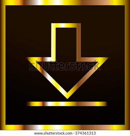 DOWNLOAD ICON.VECTOR.GOLD.WEB BUTTON
