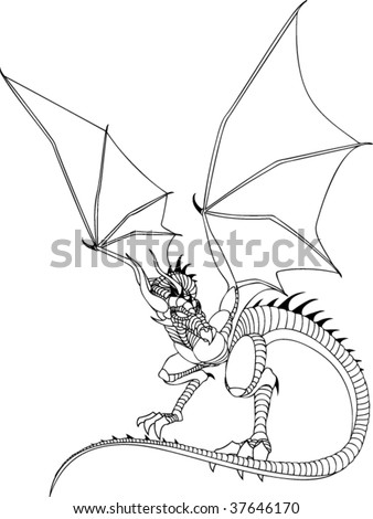 Dragon Line Drawing