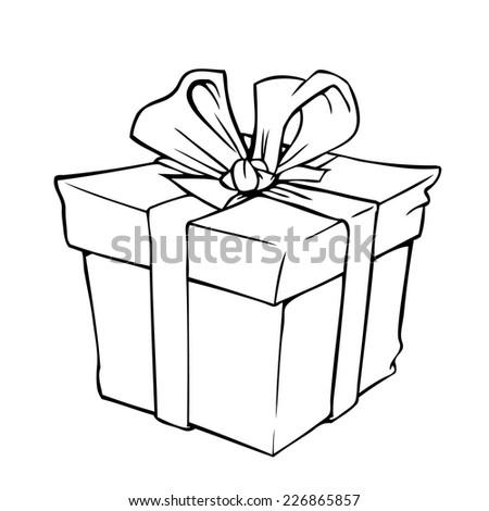 Gift Box Vector Black Silhouette Stock Vector 165773492 - Shutterstock