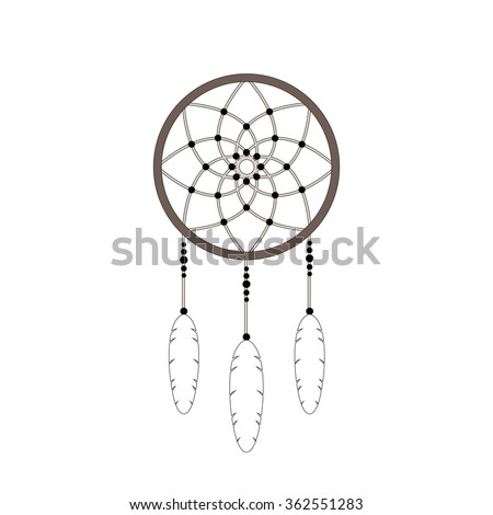 Dream catcher vector icon stock vector 553359064 for Dream catcher graphic