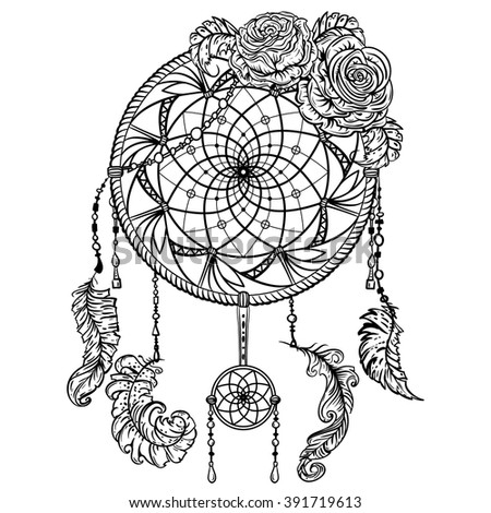 detailed dream catcher coloring pages - photo#41