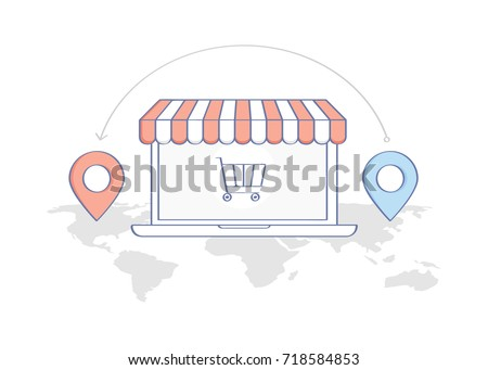 flat line work cartoon concept young stock vector 608196335 shutterstock. Black Bedroom Furniture Sets. Home Design Ideas