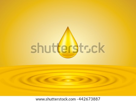 Drops of liquid gold close up
