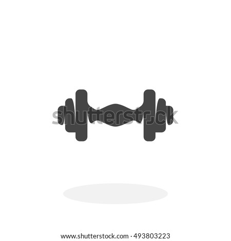 Dumbbell Icon Vector Hand Drawn Waln...