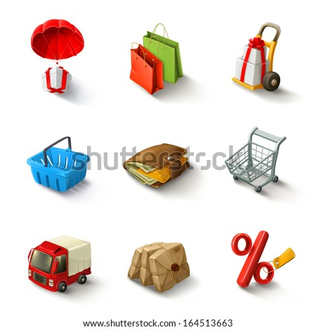 E-commerce vector icon set