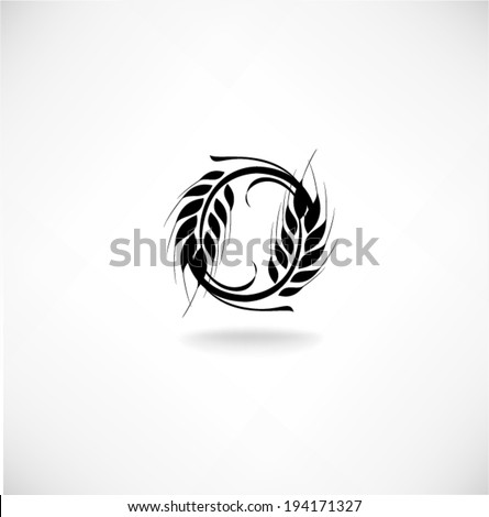 Ears of wheat in front of white background. Vector