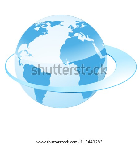 earth and circulating belt - vector illustration