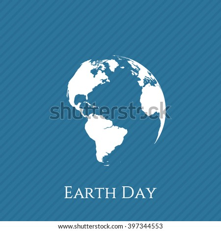Earth Day blue and white Banner Template