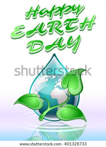 Earth day, vector illustration