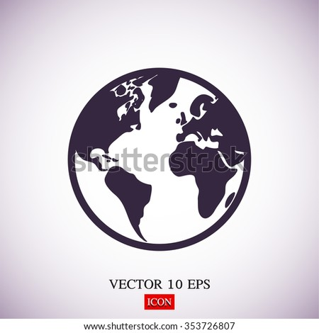earth icon . Vector  Eps 10