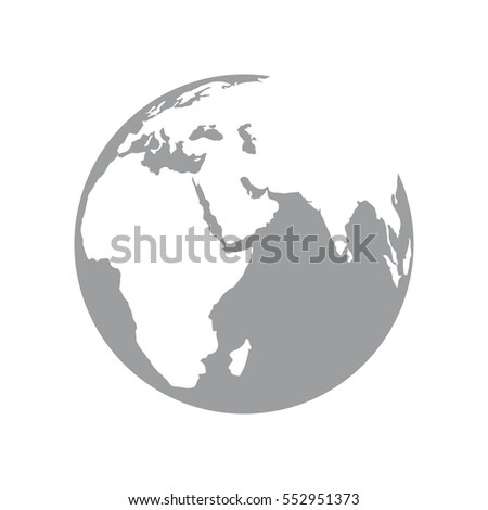 Earth logo for Your business. Vector Illustration