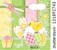 Easter collection for scrapbook. Vector illustration. - stock vector