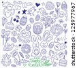 Easter - doodles set - stock vector