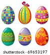 Easter egg set - stock photo