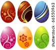 Easter`s eggs  isolated on white background (vector) - stock vector