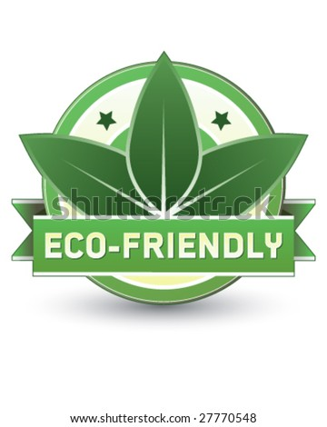 Eco-friendly food, product, or service label - vector label goo for print or web use