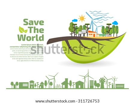 concept eco building naturepaper art style stock vector 361883102 shutterstock. Black Bedroom Furniture Sets. Home Design Ideas