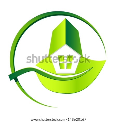 Eco friendly house - vector illustration