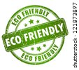 Eco friendly vector stamp - stock photo