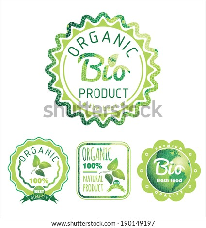 Eco Labels Bio template. Ecology theme.