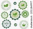 Eco labels with retro vintage design. Vector - stock vector